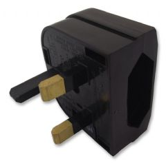POWERCONNECTIONS CP1B BLACK  Euro Converter Plug - Black